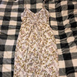 Charlotte Russe high-low floral pattern dress